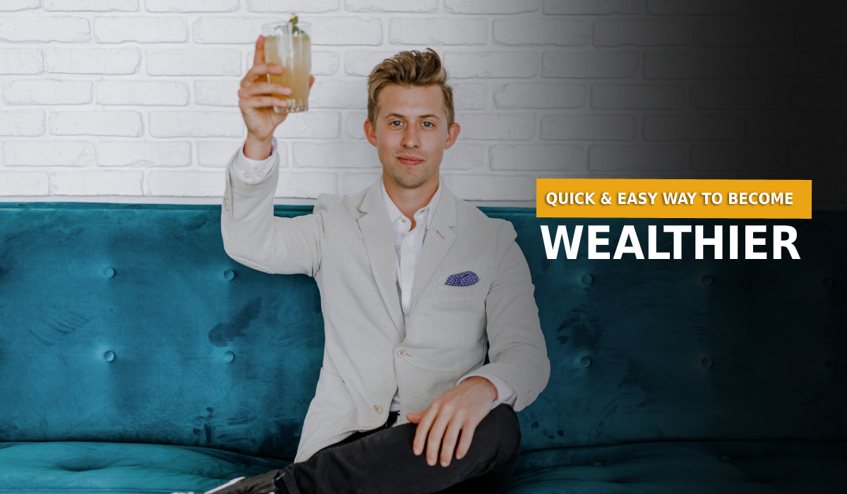 man with a cocktail